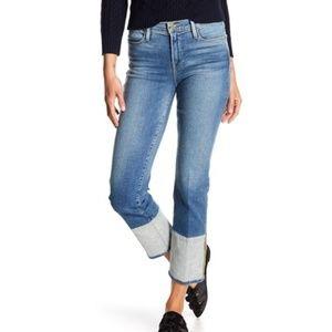 Frame denim le high Straight reverse cuff Jean 26